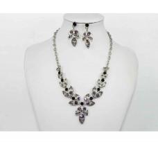 511160 Purple Necklace in Silver