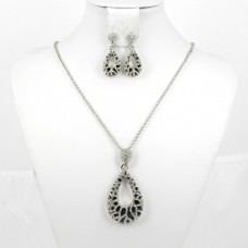 511162 Silver Necklace Set