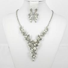 511189 Silver Necklace Set