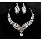 511206-101 Crystal Rhinestone Necklace Set