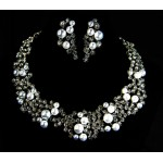 511209-101 Classique Crystal Silver Necklace Set & Pearl