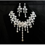 511211-101  Clear Crystal in Silver Necklace set