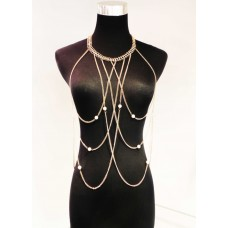 511215-201 Body Chain & Synthetic Pearl