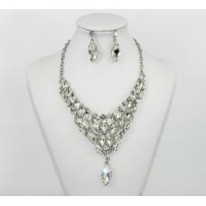 511247-101 Crystal Drop Necklace Set