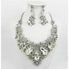 511253-101 Crystal Silver Necklace Set