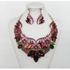 511254-419 Mutli Crystal Necklace Set in Rose Gold