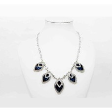511257-117 Navy Crystal Necklace