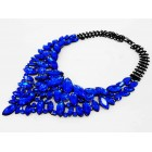 511261-115  Fashion Royal Blue Necklace in Black
