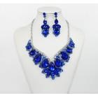 511269-115 Royal Blue Crystal Necklace Set