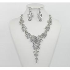 511271-101 Crystal Silver Necklace Set