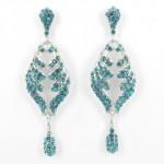 512368 Bl.Zirconia Crystal in Silver Earring