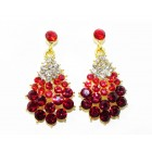 512300-207 Red Clear Earring in Gold