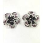 512326 Purple Earring in Silver