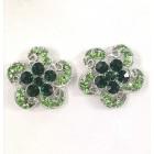 512326 Emerald Earring in Silver