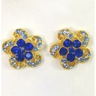512326 Royal Blue Earring in Gold