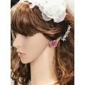 512326 Fushia Earring in Silver