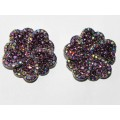 512328-105 PURPLE CRYSTAL EARRING IN SILVER