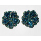 512328-110 AQUA CRYSTAL EARRING IN SILVER