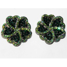 512328-114 EMERALD CRYSTAL EARRING IN SILVER