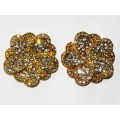 512328-201 CLEAR CRYSTAL EARRING IN GOLD