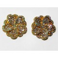 512328-201AB CLEAR CRYSTAL EARRING IN GOLD