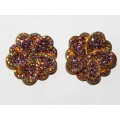512328-205 PURPLE CRYSTAL EARRING IN GOLD