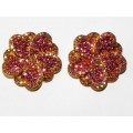 512328-209 PINK CRYSTAL EARRING IN GOLD