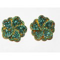 512328-210 AQUA CRYSTAL EARRING IN GOLD