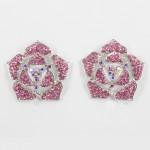 512338 Pink in Silver Earring