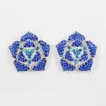 512338 Royal Blue in Silver Earring