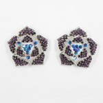 512338 Purple in Silver Earring