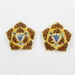 512338 Brown in Gold Earring