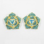 512338 Aque in Gold Earring