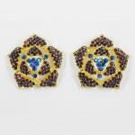 512338 Purple in Gold Earring