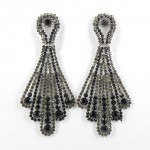 512349 Black in Silver Earring