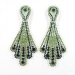 512349 Green in Silver Earring