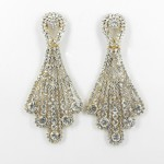 512349 Clear in Gold Earring