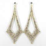 512351 Clear in Gold Earring