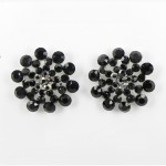 512360 Black in Silver Earring