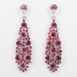 512361 Pink in Silver Earring