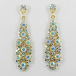 512361-201AB  Clear  in Gold Earring