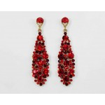 512361-207  Red in Gold Earring