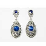 512369-115 Crystal Clear Earring in Royal Blue