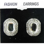 512373 Clear Crystal in Silver Earring