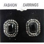 512373-302   Black Earring in Gun Metal