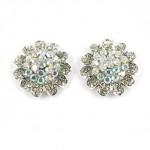 512379-101ab Clear ab crystal Flower Earring
