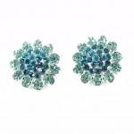 512379-110 Aqua Flower crystal Earring
