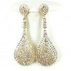 512382-201AB Clear AB Crystal Earring in Gold
