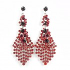 512383-107 Red Crystal Earring