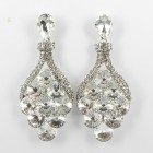 512391 Clear in Silver Earring
